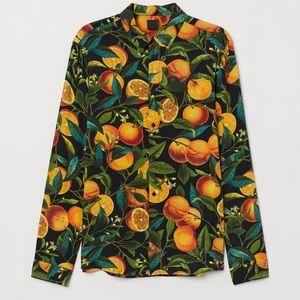H&M Orange Button Down